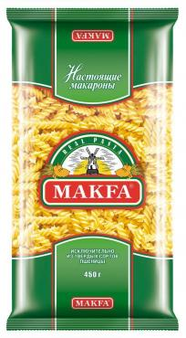 Макароны Makfa Спирали 400г