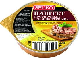 Паштет печеночный Seliko Деликатесный 100 гр., пластиковая упаковка