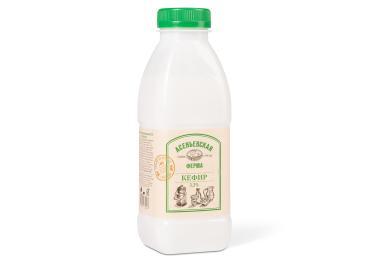 Кефир 3,2%, Асеньевская ферма, 450 мл., пластиковая бутылка