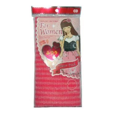 Мочалка OH:E массажная средней жесткости для женщин розовая