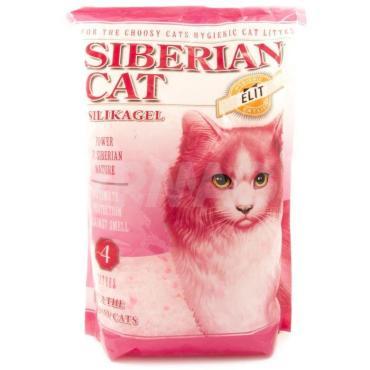 Наполнитель супервпитывающий для привередливых кошек элитный Сибирская Кошка 4 л. Пластиковый пакет