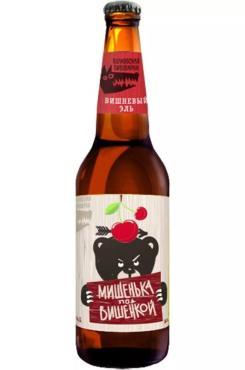 Пивной напиток Волковская Пивоварня Мишенька под вишенкой Вишневый эль 6,2%