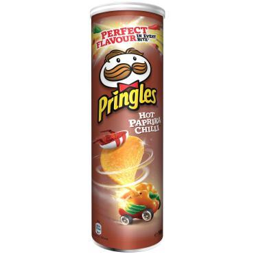 Чипсы Pringles картофельные Hot Paprika Chilli Перец Чили и Паприка