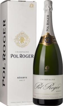 Шампанское Поль Роже Брют Резерв в п.у / Pol Roger Brut Reserve,  Шардоне,  Белое Брют, Франция