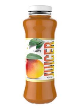Нектар из манго с мякотью, JUICER, 250 мл., стекло