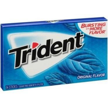Жевательная резинка Trident Original Flavor, 14шт