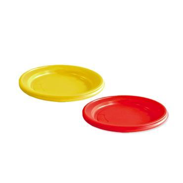 Тарелки десертные d=170 мм., цветные 12 шт., УпакСервис, картонная коробка
