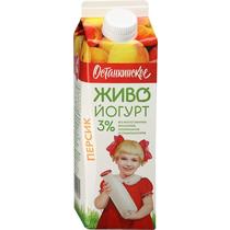 Питьевой биойогурт Живо! Останкинский персик 3% 500 г