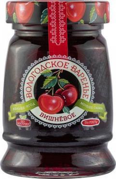 Варенье Вологодское вишневое без косточки, 370 гр, стекло