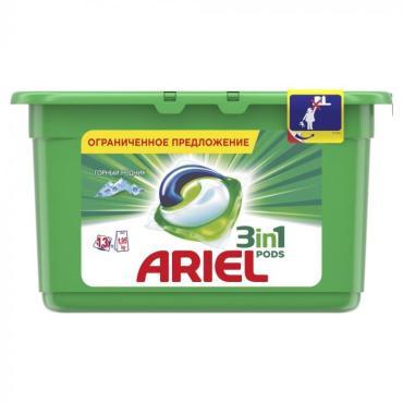 Гель для стирки в капсулах Ariel Liquid Capsules Горный родник
