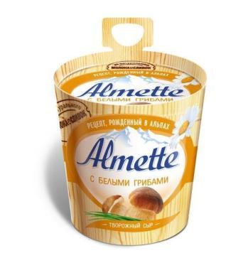 Сыр Almette с белыми грибами 60%