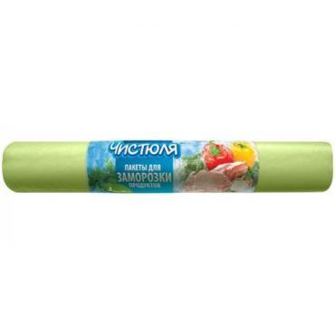 Пакеты для заморозки продуктов 3 л, 30 шт, Чистюля, Бумажная упаковка