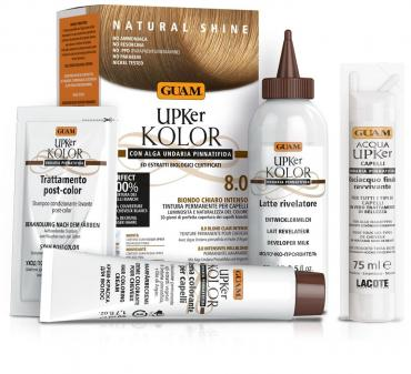 Краска для волос Guam Upker Kolor, тон 8.0 светлый блонд интенсивный