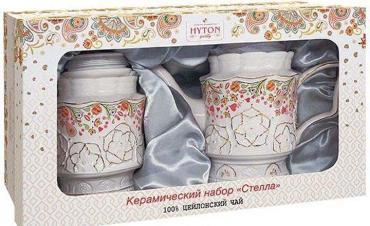 Чай черный Керамический набор Стелла, 2 предмета, Hyton, 80 гр., картонная коробка
