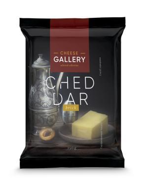 Сыр Cheddar полутвердый кусковой 50%,  Cheese Gallery, 250 гр., флоу-пак