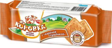 Печенье Коровка с вареной сгущенкой, Рот Фронт, 92 гр., флоу-пак