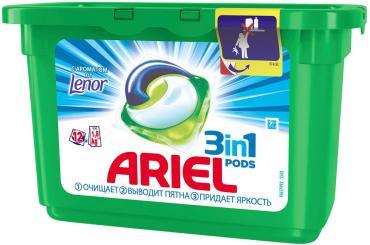 Капсулы для стирки Ariel Liquid Capsules Touch of Lenor Fresh
