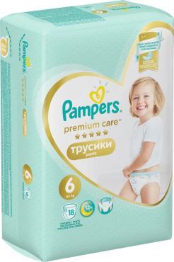 Подгузники-трусики Pampers Premium Care 15+ кг размер 6