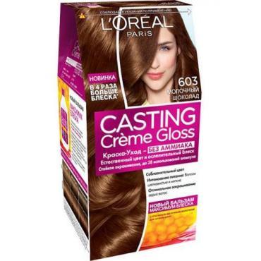 Краска-уход L`Oreal Casting Creme Gloss Молочный шоколад 603