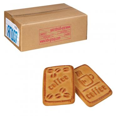 Печенье К кофе со вкусом пломбира, КДВ, 4 кг., картонная коробка