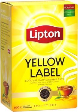 Чай черный, Lipton, 100 гр., картонная коробка