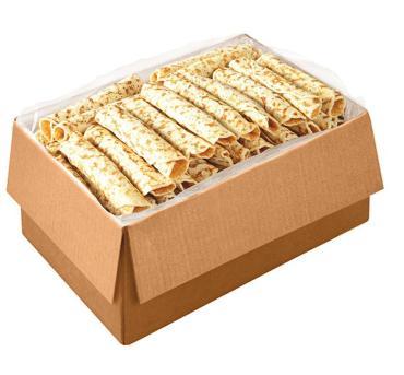 Блинчики с клубникой, весовые, С пылу с жару, 6 кг., картонная коробка