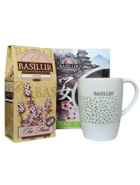 Чай листовой черный с фарфоровой кружкой Basilur, 85 гр., подарочная упаковка