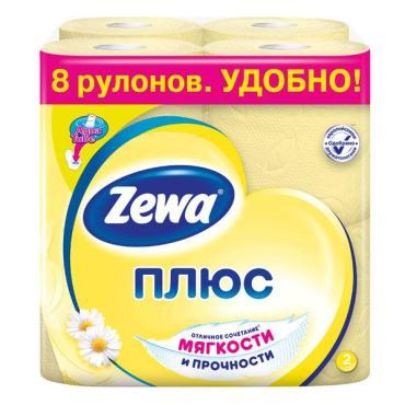 Туалетная бумага Zewa Плюс Ромашка двухслойная, 8 шт.