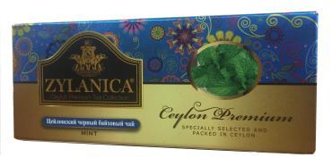 Чай Zylanica Ceylon Premium Collection черный с мятой в пакетиках