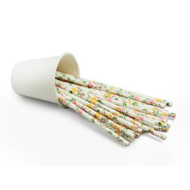 """Трубочки для коктейлей """"Английский стиль"""", 195*6 мм, 25 шт."""