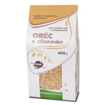 Крупа для проращивания Образ Жизни Овес в оболочке, 400 гр., бумажная упаковка