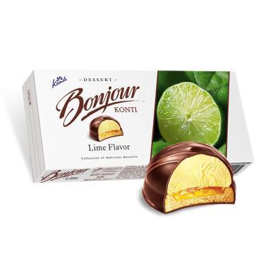 Десерт Bonjour souffle лайм, 232 гр., картонная коробка