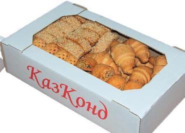 Печенье ассорти № ,короб с прозрачным экраном, Казконд, 700 гр., короб с прозрачным экраном
