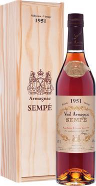 Арманьяк 40% Sempe Vieil Armagnac 1951, 500 мл., подарочная упаковка