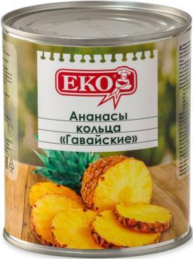 Фрукты консервированные Eko ананасы кольцами