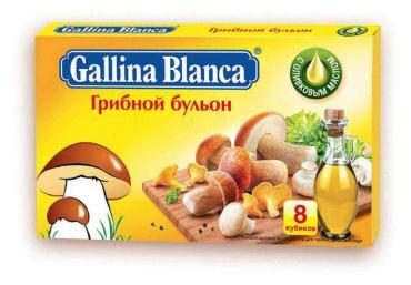 Бульон грибной Gallina Blanca, 80 гр., картонная пачка