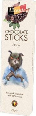 Палочки из темного шоколада Viconte, 75 гр., картонная коробка