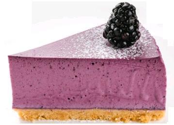 Торт Чизкейк творожный Черничный 16 порций, 1,56 кг., картонная коробка