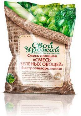 Смесь зеленых овощей Свой урожай, 400 гр., флоу-пак
