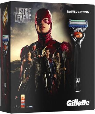 Подарочный Набор Gillette Fusion Бритва + 2 Кассеты + Гель для бритья
