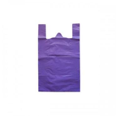 Пакет майка ПНД 24*44 10 мкм., сиреневая 100 шт.