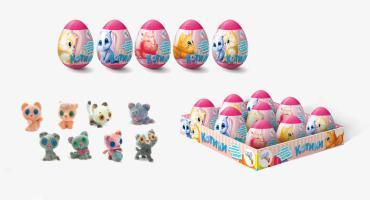 Пластиковое яйцо с игрушкой и мармеладом Данли 44 котенка ХХL, 10 гр., пластиковая упаковка