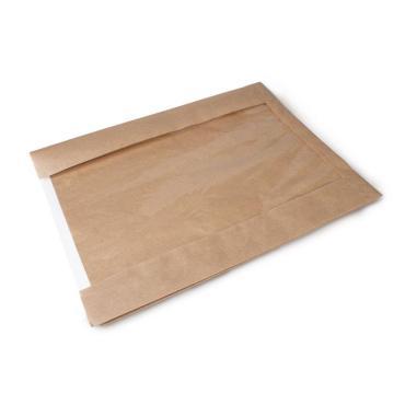 Крафт пакет с пл. дн. и окном, 300(окно-190)*400 мм
