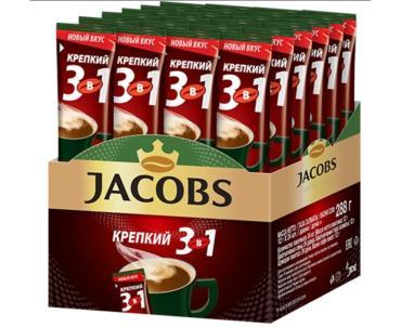 Кофе крепкий 3 в 1, Jacobs Monarch, 288 гр., картонная коробка
