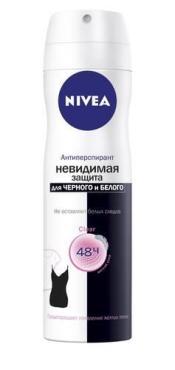 Дезодорант-антиперспирант Nivea Clear Невидимая защита для черного и белого