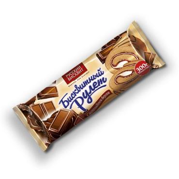 Рулет Русский Бисквит бисквитный с шоколадным вкусом