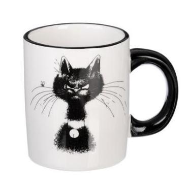 Кружка Millimi Черный кот 300 мл. керамика