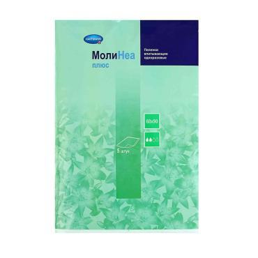 Пеленки одноразовые MoliNea plus 60Х90см. 880мл. 5шт.