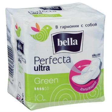 Прокладки Bella Perfecta Ultra Green супертонкие 10шт