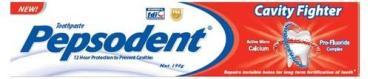 Зубная паста Защита от кариеса, Pepsodent Cavity Fighter, 120 гр., Картонная коробка